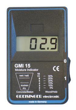 Geofennel GMI15 kan også måle fugtigheden i beton